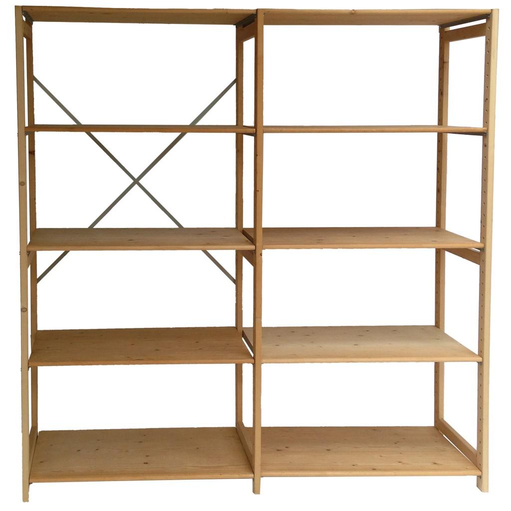 Uitgelezene Eenvoudig extra opslagruimte dankzij een houten stellingkast HB-23